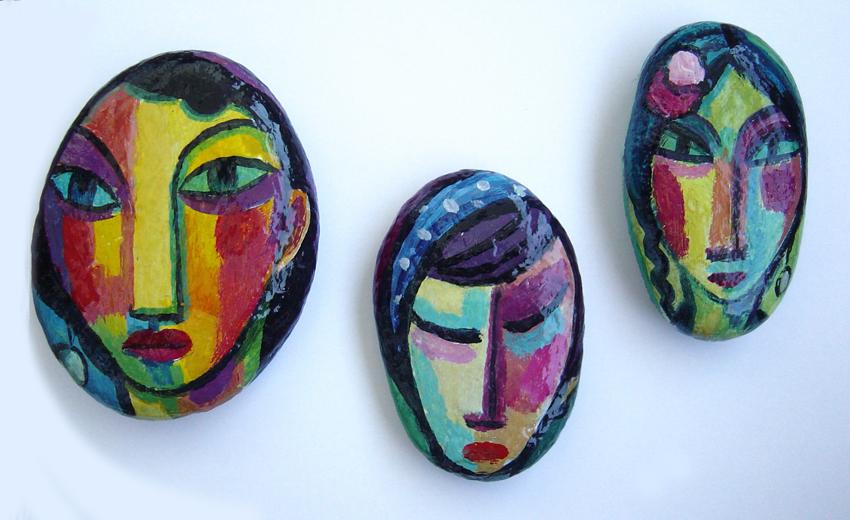 Piedras pintadas guillermo mart ceballos pintor for Pintura de piedras