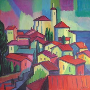 paisajes,cadaqués, artista contemporáneo, pintor expresionista, pintor Fauvista, Fauvismo, expresionismo