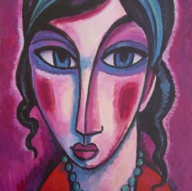 artista Barcelona,retratos femeninos,artista contemporáneo,pintor expresionista