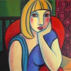 Andrea en la butaca roja