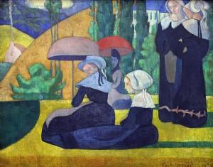 Émile Bernard Les Bretonnes aux ombrelles, 1892