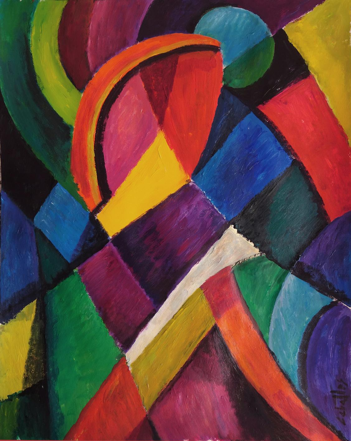 Pintura abstracta y m sica guillermo mart ceballos for Imagenes de cuadros abstractos faciles