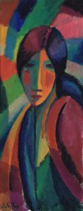 G. Martí Ceballos/ Mujer cromática (1), 2017 /Acrílico sobre cartón, 50x20 cm
