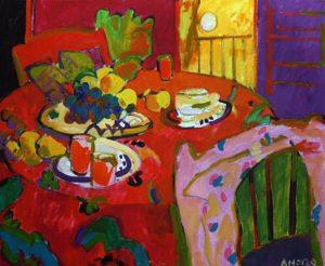 Manel Anoro. El desayuno, 80x100 cm