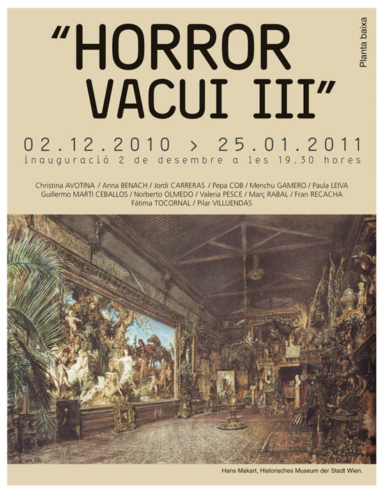 invitació horror vacui III i icones de paper
