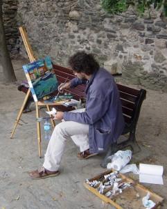 Pintando en Collioure