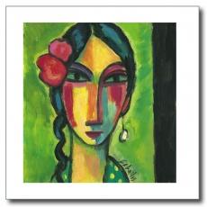 Flamenca con dos flores