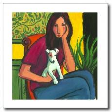 Chica con cachorro