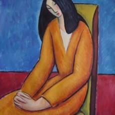 Mujer meditativa