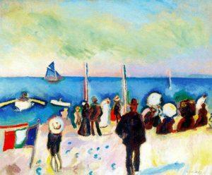 Raoul Dufy. La plage de Saint Adresse, 1906