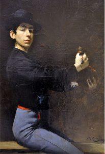 Ramon Casas Autoretrato Paris 1883