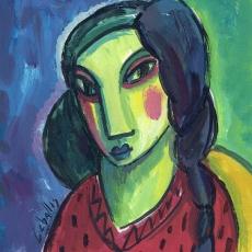 Mujer con trenza
